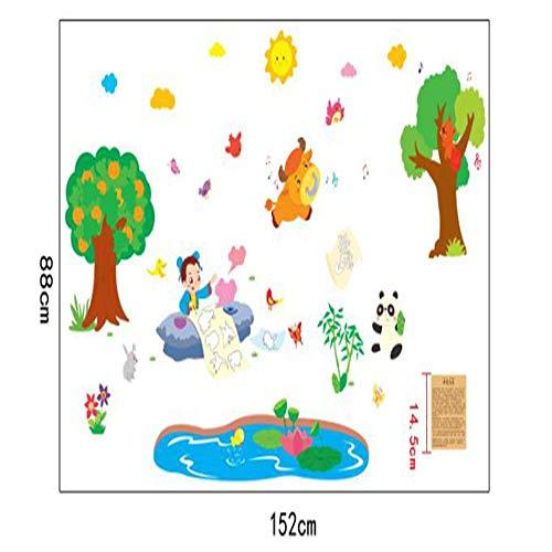 r God Pen Ma Liang Chinese Cartoon Story Wall Stickers Children'S Room Kindergarten Classroom Children'S Bedroom Wall Decoration Decals ()