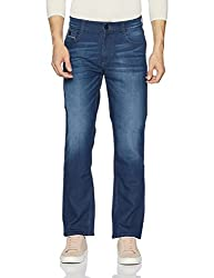 John Players Mens Slim Fit Jeans (8907349059213_ZCMWJNS170007002_30W_Jet Black)