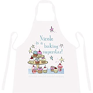 Personalised '… Is a Baking Superstar' Aprons Fun Novelty Gifts Available in All Ages (Medium Adult 84cm x 65cm)