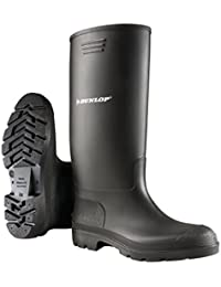 Dunlop Pricemastor PVC Welly / Mens Boots (10 UK) (Black)