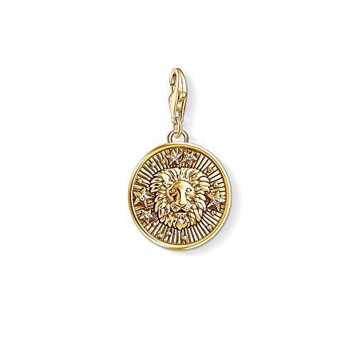 Thomas Sabo Damen Herren-Charm-Anhänger Sternzeichen Löwe Charm Club 925 Sterling Silber vergoldet 1656-414-39