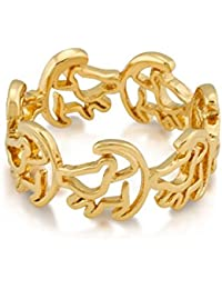 1e5271118 Disney Couture Lion King Gold-Plated Simba Outline Ring-8