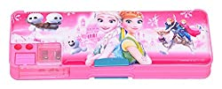 Multipurpose Pencil Box with calculator & dual sharpner - Frozen (Color May Vary)