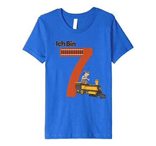 Kinder Geburtstagsshirt 7 Jahre Junge Eisenbahn Ich bin 7