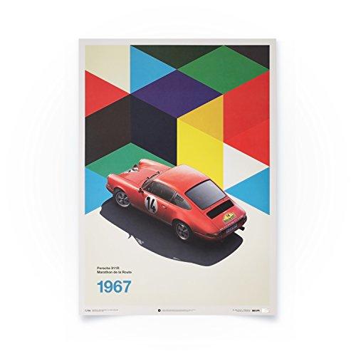 Automobilist Porsche 911R - Marathon de la Route - Einzigartiges Design, Limitierte Auflage Poster - Standard Poster Format 50 x 70 cm