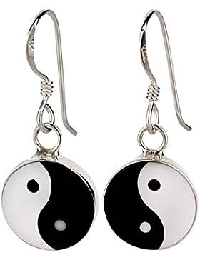 SL-Silver Ohrringe Ying Yang Glanz 925 Sterling Silber in Geschenkverpackung