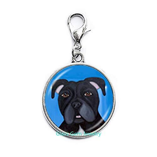 Pit Bull Dog Dog Zipper Pull American Pitbull Terrier Pet Puppy Rescue Karabinerverschluss Bulldog Schmuck für Tierliebhaber, Zubehör Q0222