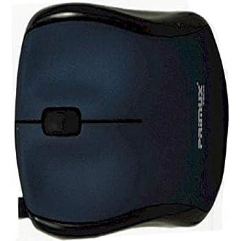 Primux M305L - Mini ratón óptico USB con rueda de desplazamiento, cable retráctil, color