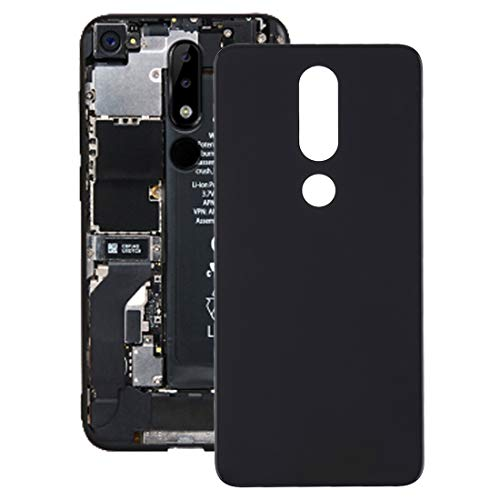 ACCESSORI PER MOBILEPHONE ELETTRONICI Cover Posteriore WSC per Nokia 5.1 Plus (X5) (Nero) (Colore : Black)