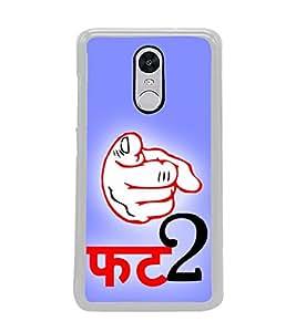 PrintVisa Lady Finger Pointer High Gloss Designer Back Case Cover for Redmi Note 4 New