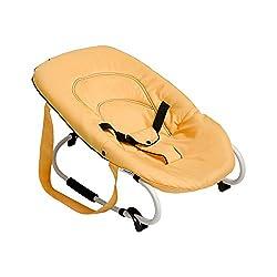 Hauck / Babywippe Rocky / Schaukelfunktion / verstellbare Rückenlehne, Sicherheitsgurt und Tragegriffe / ab Geburt bis 9 kg verwendbar / kippsicher und tragbar, Banana (gelb)