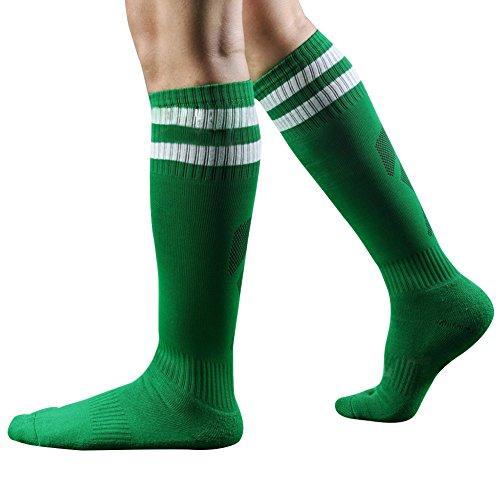 West See Männer Herren Socke Sportsocke Fußball Baseball Eishockey Kniestrümpfe (Grün)