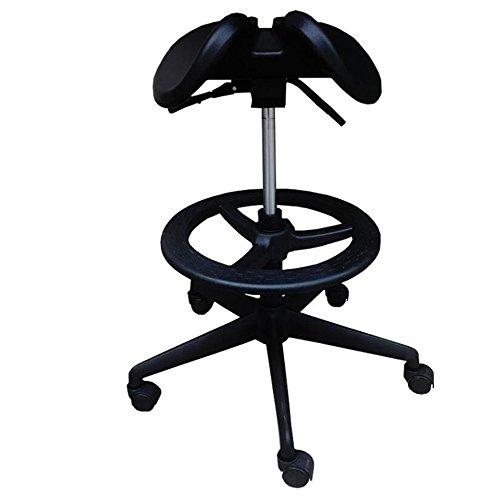 Brisk- 360 ° Ergonomie Stehstuhl Stuhl Anti-zurück Anti-Myopie Computer Stuhl Orthopädischer Stuhl Sattelstuhl Hebehocker Reiten Ergonomischer Stuhl Master Arbeitsstuhl (Farbe : A)