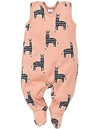Pinokio - Happy Llama - Onesie (Pijamas/una Sola Pieza) Algodón - Mangas - Turquesa o Naranja/Albaricoque - Motif Lama - Chicos niñera