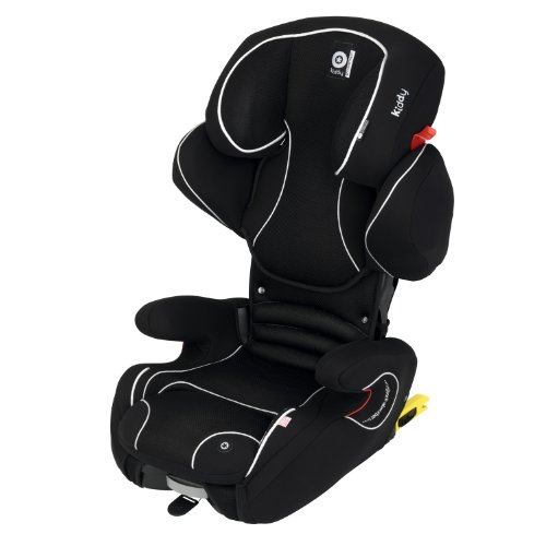 kiddy Cruiserfix Pro 2-3 (15-36 kg; 3,5-12 años) Negro, Color blanco - Silla de coche (2-3 (15-36 kg; 3,5-12 años), 3-point, Negro, Color blanco, ISOFIX, Lavado a máquina, 30 °C)