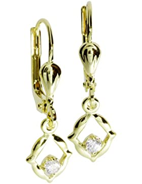 InCollections Damen-Ohrhänger 333/000 Gold mit Zirkonia weiss 0010160096401