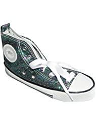 WEDO Trousse scolaire Motif Chaussure de sport sneaker scintillant Vert