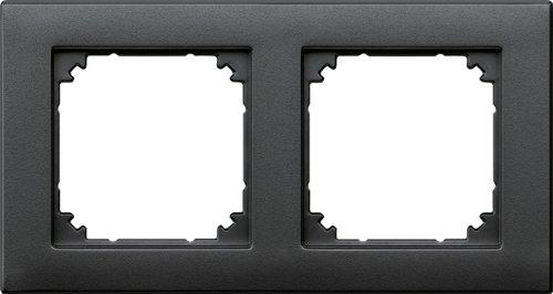 Merten 486214 M-PLAN-Rahmen, 2fach, anthrazit -