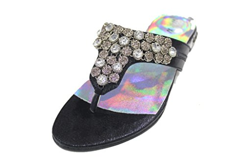 Wear & Walk UK , Sandales Plateforme femme Noir