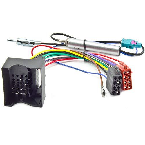 Watermark Radio-Adapterkabel und Antennenadapter mit Phantomeinspeisung für Audi SEAT Skoda VW 1310A W # #