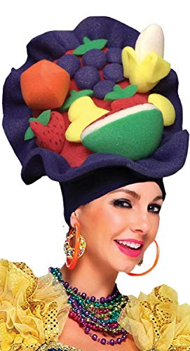 Kostüm Karneval Karibik - Fancy Me Damen Herren Carmen Miranda Karibik Obst Karneval Pantomime Panto Dame, Kostüm-Kostüm Outfit Hut