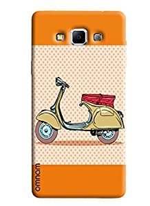 Omnam Printed back cover artistic scooter impression for Samsung Glaxy A5