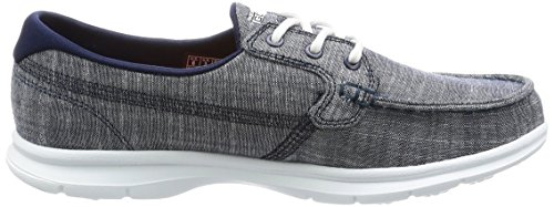 Skechers Go Step Riptide, Chaussures Bateau Femme Navy Marina