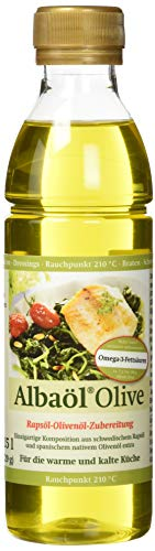 ALBAÖL OLIVE - Rapsöl-Olivenöl-Zubereitung der Profiköche 250ml, 6er Pack (6 x 250ml Flasche) -