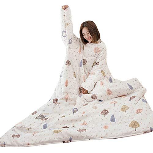 MRULIC Cuisine et Maison décoration Multifonction Hiver Courtepointe paresseuse avec Couverture taie d'oreiller lavé épaissi Chaud