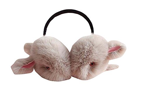 Lapin gris en peluche femmes Earmuff Ear Sports de plein air plus chaud
