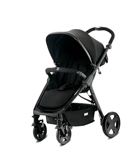 Moon 62780300-891 JET City, black/fishbone Kinderwagen, schwarz