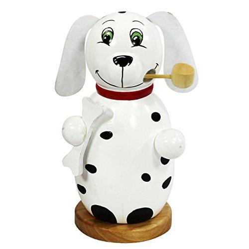 Beau fumeur d'encens en forme de chien blanc, dimensions approx. 6 x 13 cm