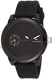 Tommy Hilfiger Men'S Black Dial Black Silicone Watch - 179