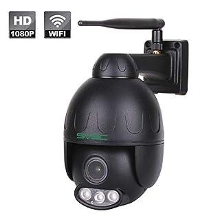 SV3C 1080P Überwachungskamera Aussen WLAN, WiFi Dome IP Kamera Outdoor 5X Optischer Zoom mit Zwei-Wege-Audio, 50m IR-Nachtsicht, Wasserdicht, Bewegungserkennung, Supporto TF Card da 128 GB