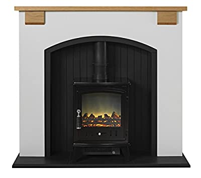 Adam Vermont Stove Suite with Aviemore Electric Stove in Black, Cream