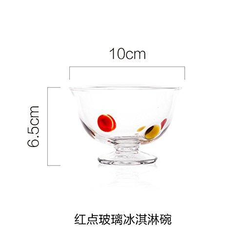 Fisch Augen Dessertschale aus Glas Schalen red dot