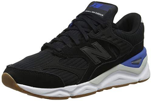 New Balance Herren X-90 Sneaker, Schwarz (Black/Rain Cloud/Classic Blue Bk), 45 EU