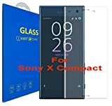 Sony Xperia X Compact Incurvé 3D Verre Trempé - Transparent 3D Film Protection en Verre trempé écran Protecteur Vitre - Ultra Résistant Dureté 9H 0.26mm Glass Screen Protector pour Sony Xperia X Compact (Clear)