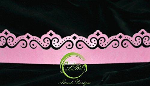 ' Spitze Bordüre Rosa Ornaments Rand' Torte Tortendekoration,Geburtstag, Tortendeko,