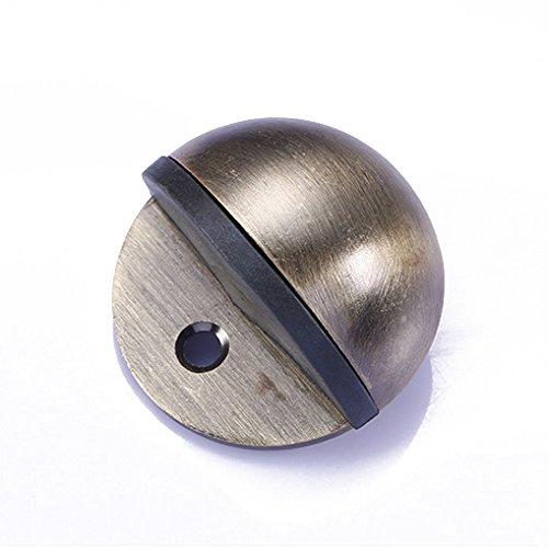 e-meoly 5x Pack Zink Legierung Oval Tür Stopper Catch Halter Magnet Tür Stop Safety Türstopper Tür Catch Tür Halter Türstopper mit Gummi bronze