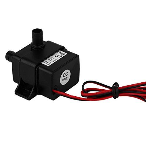 Dailyinshop AD20 AD20 DC 12 V Super Sound-Off Wasserkühlung Zyklus Druck Boost DC Pumpe (Farbe: Balck)