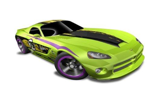 hot-wheels-06-dodge-viper-srt10-green-w-black-yellow-stripe-hw-code-cars-12-8-22-233-247-scale-164-b