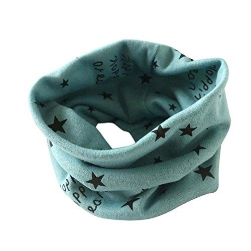 FORH-Baby Baby Loop Schal FORH Kinder Jungen Mädchen Unisex Winter warm Schlauchschal O Ring Schals Hals schal mit sternen super weich Baumwolle rundschal (Grün)