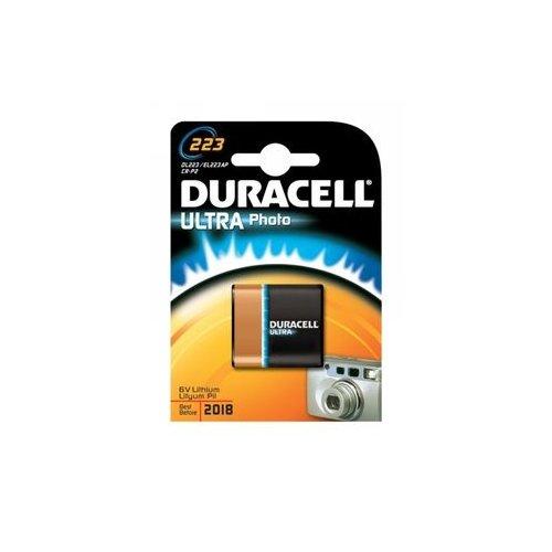 Pile photo lithium haute puissance Duracell spéciale 223 5 V, pack de 1 (223 / CR-P2 ), conçue pour une utilisation dans les appareils photo numériques
