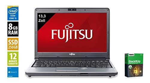 Fujitsu LifeBook S762   Notebook   Laptop   13,3 Zoll (1366x768)   Intel Core i5-3320M @ 2,6 GHz   8GB DDR3 RAM   250GB SSD   DVD-Brenner   Webcam   Windows 10 Home (Zertifiziert und Generalüberholt) Lifebook Laptop-notebooks