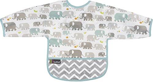 Kushies Cleanbib - Babero con mangas 2-4a - Elefantes