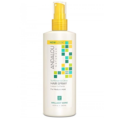 Andalou Naturals Medium Hold Hair Spray Sunflower and Citrus -- 8.2 fl oz by Andalou Naturals