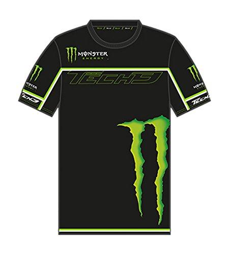 monster-tech3-t-shirt-homme-noir-vert-fr-m-taille-fabricant-m