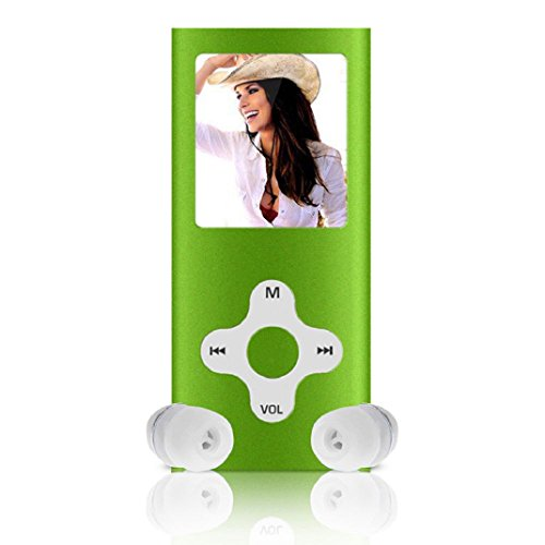 Amison 8GB Schlank digitale MP4 Player 1.8inch LCD Bildschirm FM Radio Video Games Film (Grün) (Mp4-player Video)