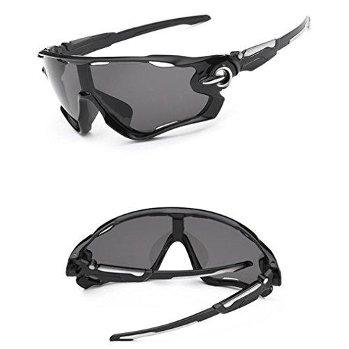 Zolimx Las Nuevas Gafas de Sol de la Lente UV400 Que Completan un Ciclo Los Vidrios de Ciclo de la Bici de Montaña de Los Deportes (Gris)